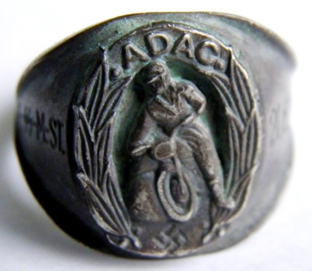 """SS/ Anillo de Plata """"800"""" para un """"SS"""" Miembro del """"ADAC"""""""